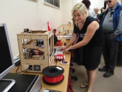 Fab Lab staff demonstrate 3D printing