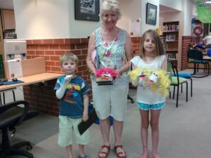 Val Fewster and grandchildren