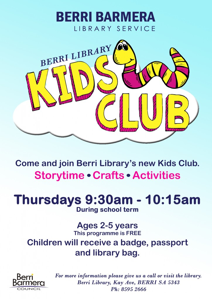 Post image for New Kids Club at Berri Library in 2019