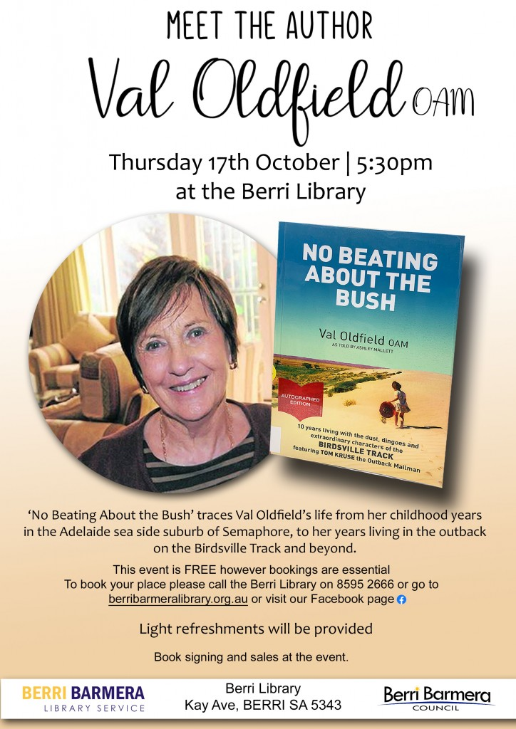 Val Oldfield Author event