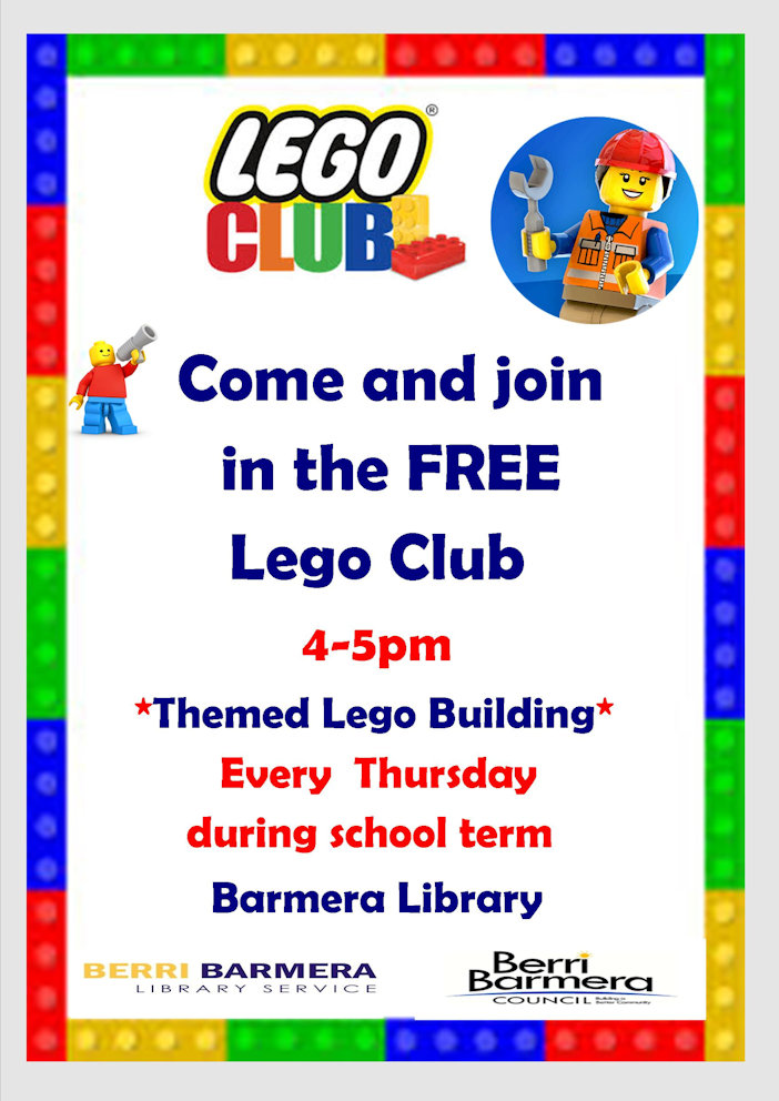 Post image for Lego Club at Barmera Library every Thursday 4-5pm during school term time